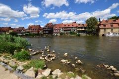 Klein Venedig i Bamberg, Tyskland Arkivfoton