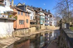 Klein Venedig little venice of Bad Kreuznach, Germany with Ell. Erbach creek Stock Images