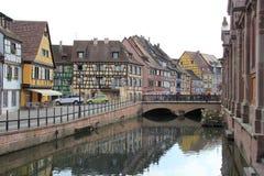 Klein Venetië in Colmar Stad, Frankrijk Stock Foto's