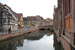 Klein Venetië in Colmar Stad, Frankrijk Stock Foto