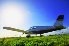 Klein vliegtuig Stock Foto