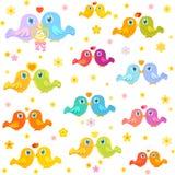 Klein vogels` liefde, eenvoudige en leuke patroon royalty-vrije illustratie