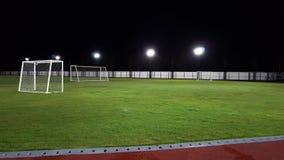 Klein vom grünen Rasen des Fußballplatzes Lizenzfreie Stockfotos