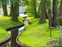 Klein windend kanaal in park Stock Foto