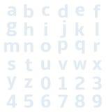 KleinalphabetZeichenpapier mit Maßeinteilung Lizenzfreie Stockfotografie
