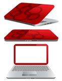 Kleincomputer - Laptop oder Notizbuch Lizenzfreies Stockfoto