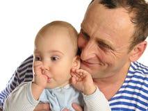 Kleindochter met grootvader Royalty-vrije Stock Afbeeldingen