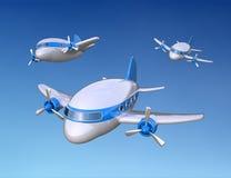 Kleine 3D vliegtuigen Stock Afbeelding
