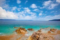 Kleine adriatische Küstenlinie Kroatien Lizenzfreies Stockbild
