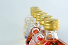 Kleine alcoholische drank bootles Royalty-vrije Stock Fotografie