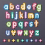 Kleine Alphabetpapierbuchstaben Lizenzfreie Stockfotografie