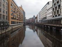 Kleine Alster a Amburgo Immagine Stock