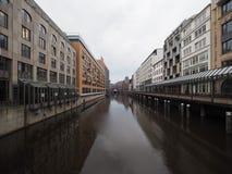 Kleine Alster a Amburgo Fotografie Stock
