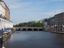 Kleine Alster en Hamburgo imágenes de archivo libres de regalías