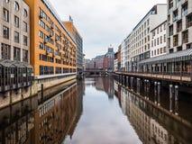 Kleine Alster in Hamburg hdr Royalty Free Stock Photo