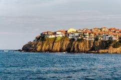 Kleine alte Stadt auf dem Kap Stockfoto