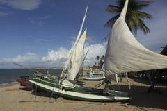Kleine Ambacht vissersboot - RN, Brazilië royalty-vrije stock afbeeldingen