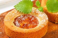 Kleine appel gevulde cakes Royalty-vrije Stock Foto's