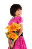 Kleine asiatische Mädchen Blume Lizenzfreies Stockfoto