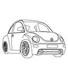 Kleine auto kleurende pagina Royalty-vrije Stock Afbeeldingen