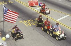 Kleine Auto's in 4 de Parade van Juli, Ojai, Californië Royalty-vrije Stock Foto