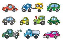 Kleine Autos eingestellt Stockfoto