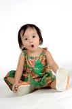Kleine Aziatische meisjes Royalty-vrije Stock Foto's
