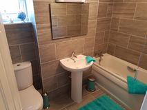 Kleine badkamers Royalty-vrije Stock Afbeelding