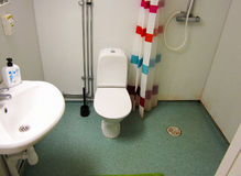 Kleine badkamers in Stockholm royalty-vrije stock afbeelding