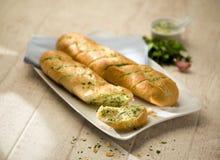 Kleine baguettes met kruiduiteinde Stock Fotografie