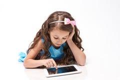 Kleine Ballerina Abbildung auf weißem Hintergrund für Auslegung Moderne Technologien Lizenzfreie Stockfotos