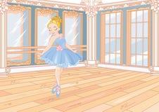 Kleine Ballerina an der Ballettklasse vektor abbildung