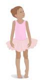 Kleine Ballerina in einem rosa Ballettröckchen Stockbilder