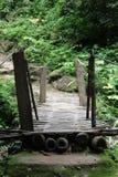 Kleine Bambusbrücke in der Landschaft Lizenzfreie Stockbilder