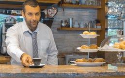 Kleine bedrijfs coffe winkel Stock Afbeeldingen