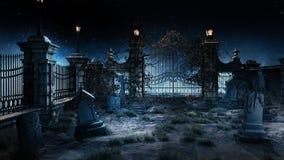 Kleine begraafplaats stock illustratie