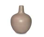 Kleine beige ceramische vaas Stock Afbeelding