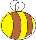 Kleine Bienen-Abbildung Lizenzfreies Stockfoto
