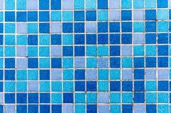 Kleine blaue Keramikziegel Lizenzfreie Stockbilder