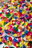 Kleine bloemenboeketten. Royalty-vrije Stock Afbeeldingen
