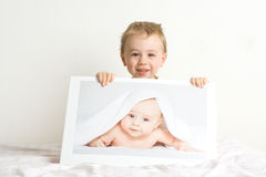 Kleine blonde jongens royalty-vrije stock fotografie