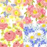 Kleine Blumensträuße mit Bögen Stockfotografie