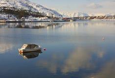 Kleine boot, Alta, Noorwegen Stock Foto's