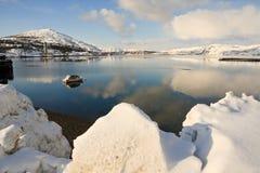 Kleine boot, Alta, Noorwegen Royalty-vrije Stock Foto