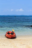 Kleine boot bij golf van Thailand Royalty-vrije Stock Foto