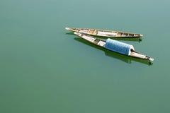 Kleine boot op de Mekong rivier stock foto's