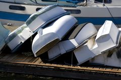 Kleine Boote Stockbild
