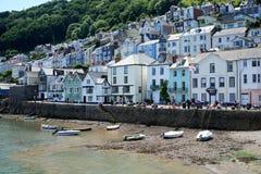Kleine Boote auf Strand, Dartmouth, Devon Lizenzfreies Stockbild