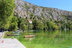 Kleine Boote in Griechenland Lizenzfreies Stockfoto