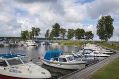 Kleine boothaven Royalty-vrije Stock Fotografie